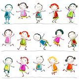 Happy children. Groups of happy children playing Stock Photography