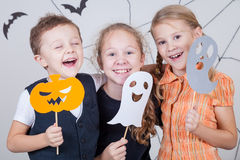 Happy children on Halloween party Royalty Free Stock Photo