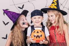 Happy children on Halloween party Royalty Free Stock Image