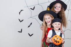 Happy children on Halloween party Royalty Free Stock Photography