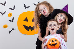 Happy children on Halloween party Stock Images