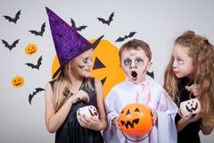 Happy children on Halloween party Stock Image