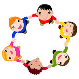 Happy children hand in hand Royalty Free Stock Photo