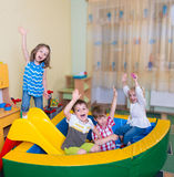 Happy children having fun at home Stock Photography