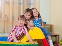 Happy children having fun at home Royalty Free Stock Photos