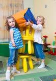 Happy children having fun at home Royalty Free Stock Photo