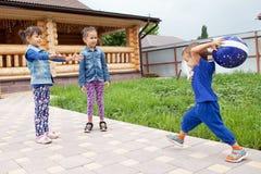 Happy children having fun in spring Stock Photography