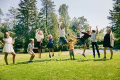 Happy children having fun during summer vacations Royalty Free Stock Images