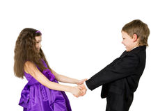 Happy children holding hands and dancing Royalty Free Stock Photography