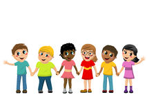 Happy Children kids hand isolated Stock Photo