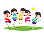 Happy Children. Little Children happy playing illuttration vector illustration