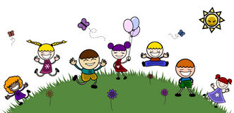 Happy children in the nature Stock Image