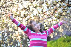Happy children in nature Royalty Free Stock Images