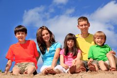 Free Happy Children On Beach Royalty Free Stock Photography - 24769377