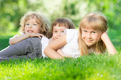 Happy children outdoors Royalty Free Stock Photo