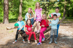 Happy children outdoors Royalty Free Stock Photos