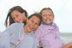 Happy children outdoors stock images