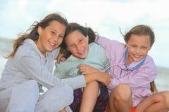 Happy children outdoors. Portrait of happy children outdoors royalty free stock photos