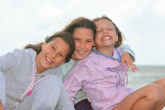 Happy children outdoors. Portrait of happy children outdoors royalty free stock images
