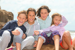 Happy children outdoors Royalty Free Stock Images