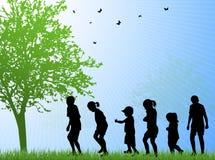 Happy children outdoors Stock Photography