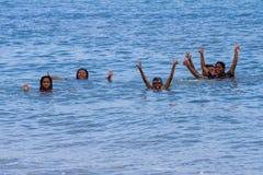 Happy children in Panama royalty free stock photos