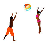 Happy children play in ball. On a white background Royalty Free Stock Photo