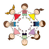 Happy children play icon. Illustration design Stock Photography
