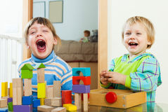 Happy children playing in home Royalty Free Stock Photography