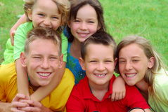 Happy Children Portrait Stock Images