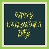 Happy Children`s Day. Illustration of a Banner for Happy Children`s Day Stock Image