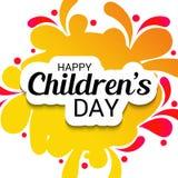 Happy Children`s Day. Royalty Free Stock Photo