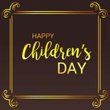 Happy Children`s Day. Illustration of a Banner for Happy Children`s Day Royalty Free Stock Photos
