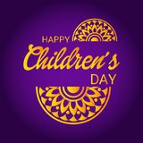 Happy Children`s Day. Illustration of a Banner for Happy Children`s Day Royalty Free Stock Photo