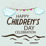 Happy Children`s Day. Illustration of a Banner for Happy Children`s Day Stock Photos