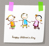 Happy children`s day Royalty Free Stock Photography