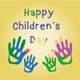 Happy children's day Stock Image