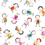 Happy children. Seamless pattern with happy children playing Royalty Free Stock Images