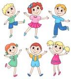Happy children set Royalty Free Stock Photography