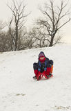 Happy children on snow Stock Images