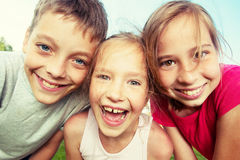 Happy children at summer Royalty Free Stock Images