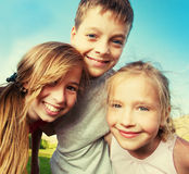 Happy children at summer Stock Images
