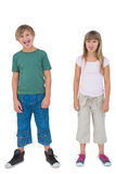 Happy children with their tongues sticking out Royalty Free Stock Images
