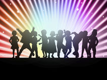 Happy children together dancing Stock Images