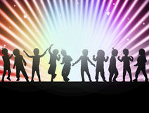 Happy children together dancing Royalty Free Stock Photography