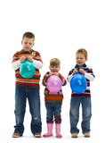 Happy Children With Toy Balloon Stock Photo