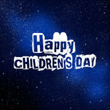Happy Childrens Day Stock Photography