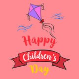 Happy childrens day cartoon style Royalty Free Stock Photo
