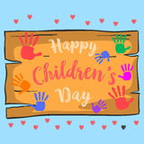 Happy childrens day style cute design Royalty Free Stock Photography