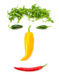 Happy chilli pepper man Royalty Free Stock Image